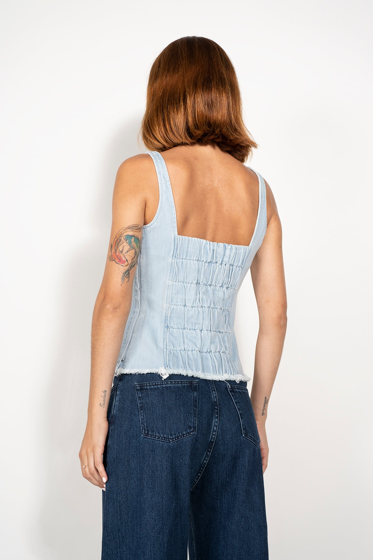 FITTED DENIM CORSET