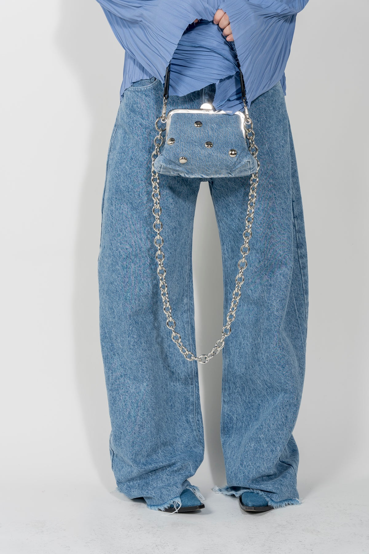 STUDDED DENIM BAG MARQUES ALMEIDA