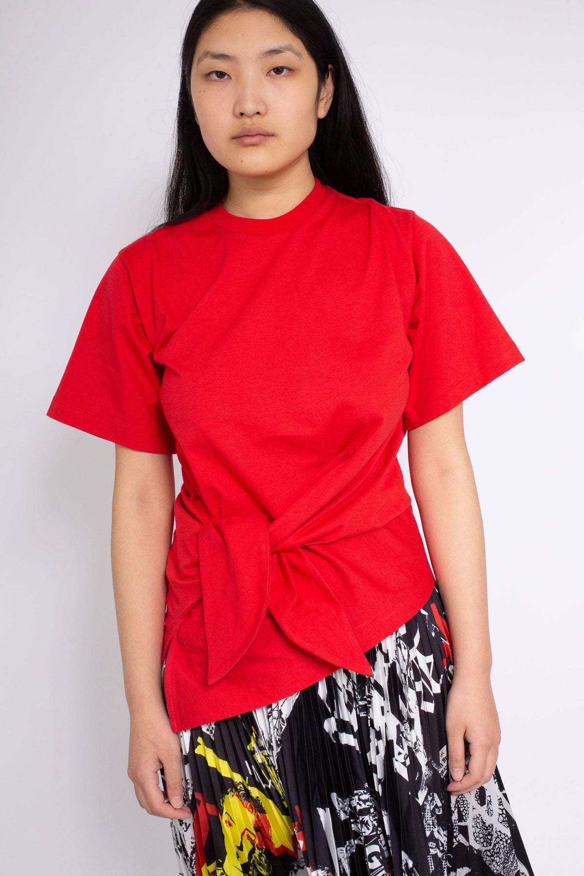 KNOT T-SHIRT IN RED