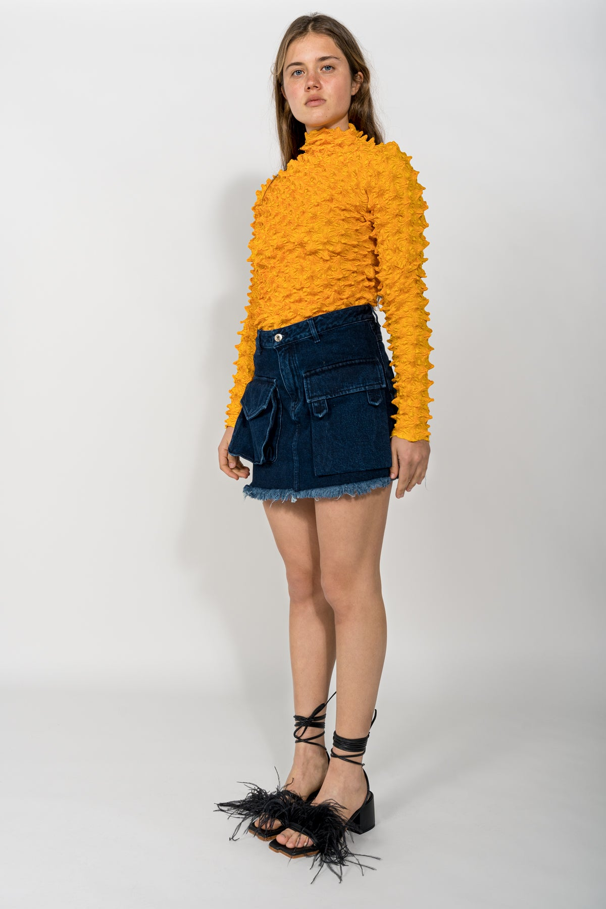 YELLOW SPIKED TOP