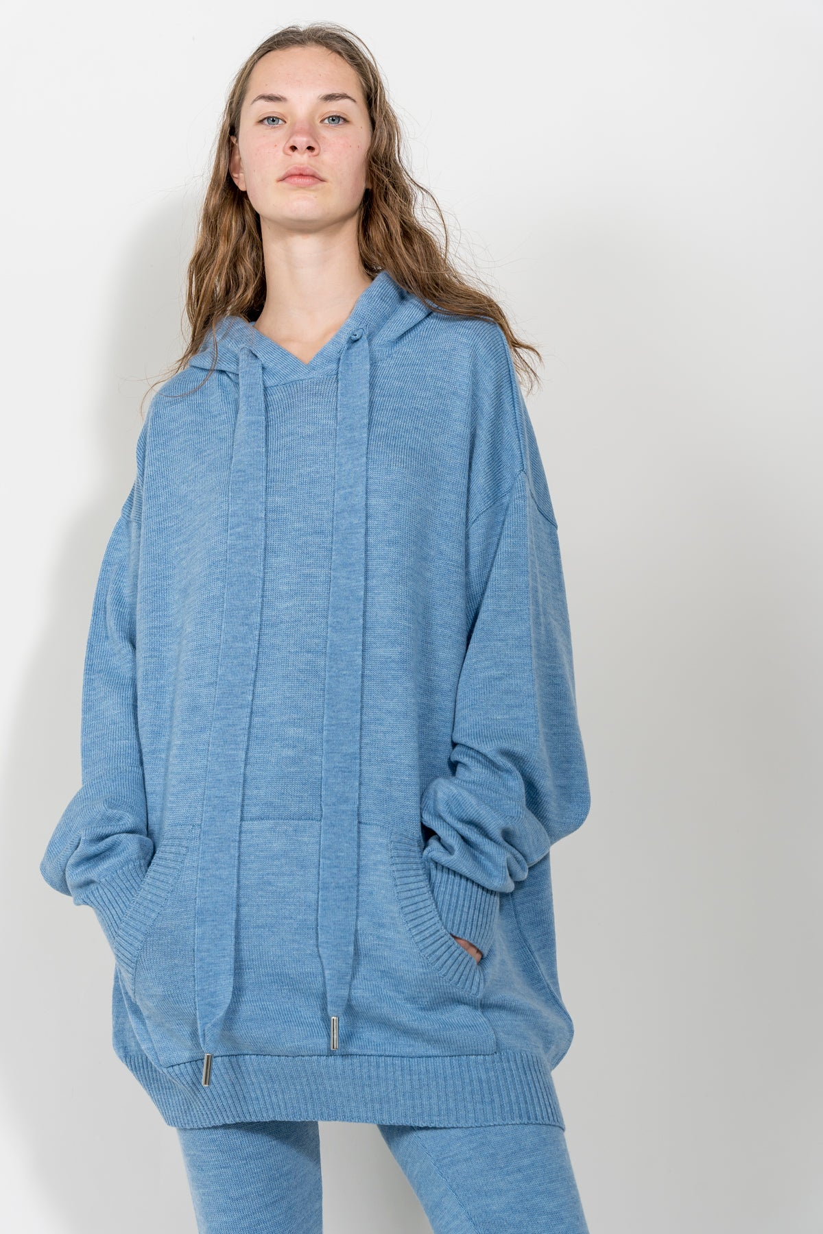 LIGHT BLUE TRACKSUIT JUMPER