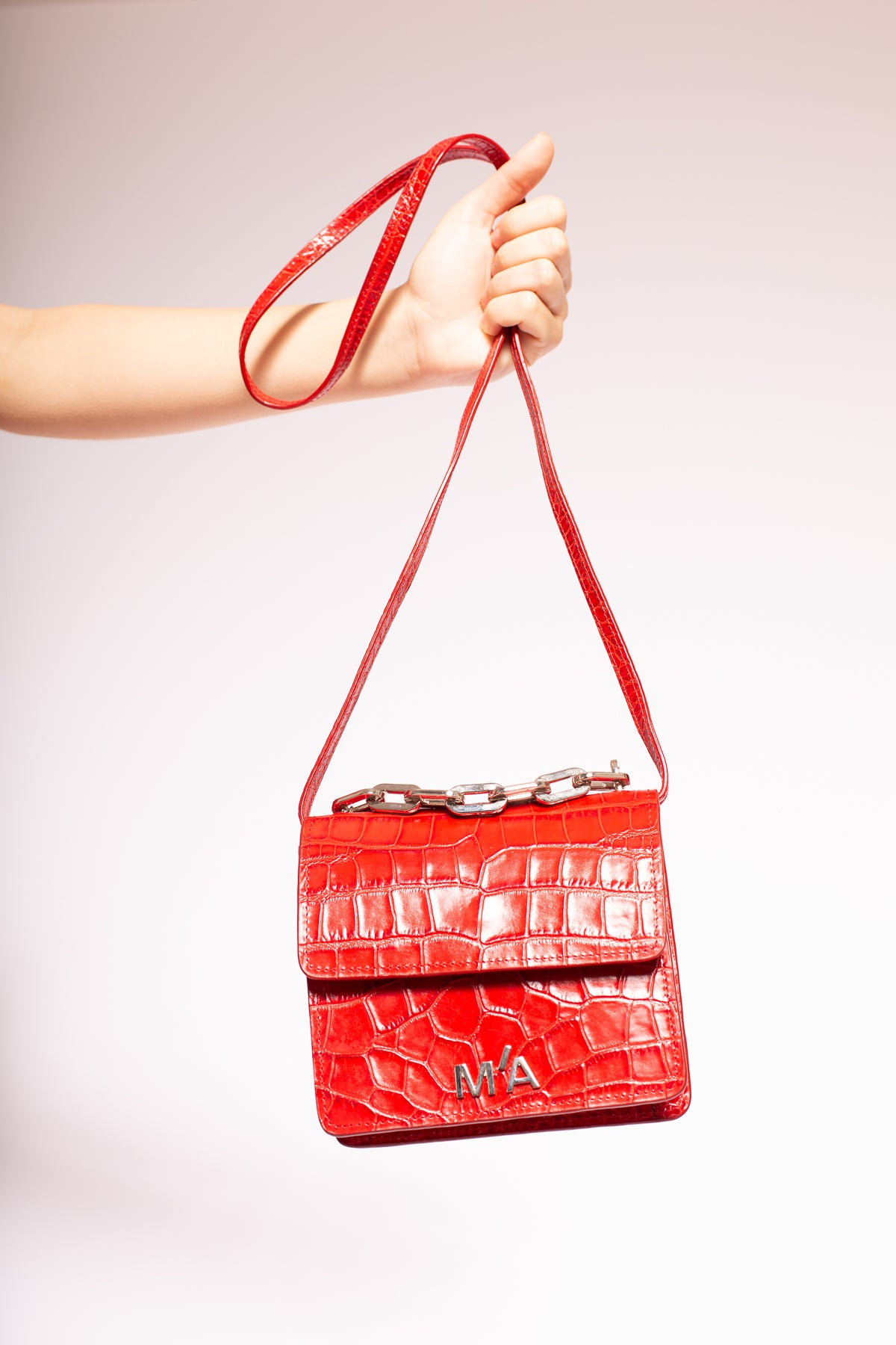 MINI CHAIN BAG IN RED - marques-almeida-dev