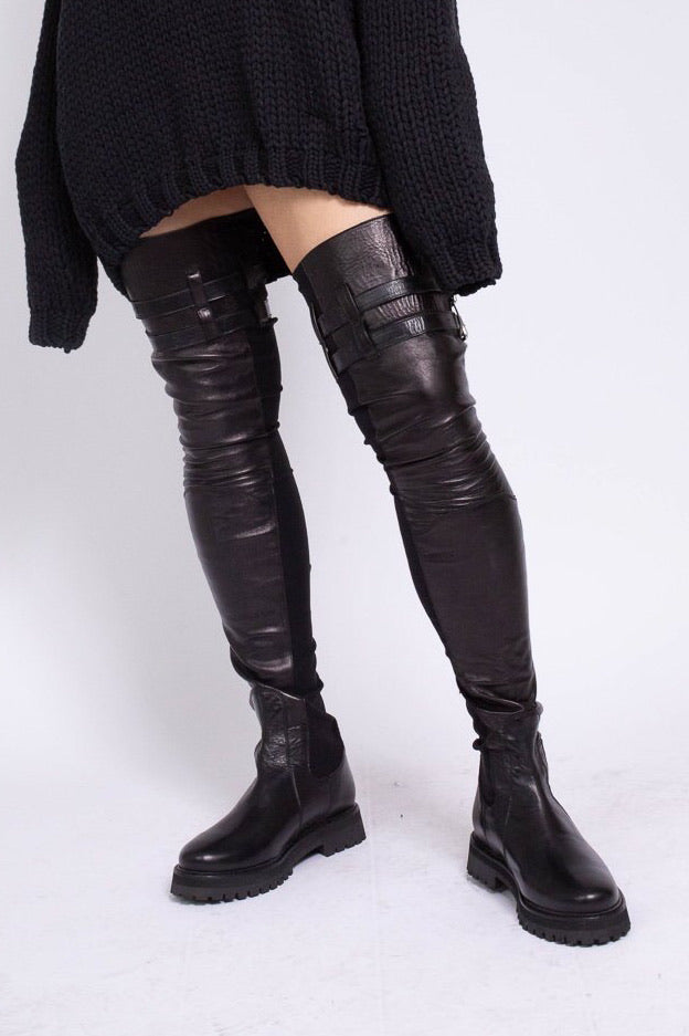 CLASSIC M'A BLACK THIGH HIGH BOOTS