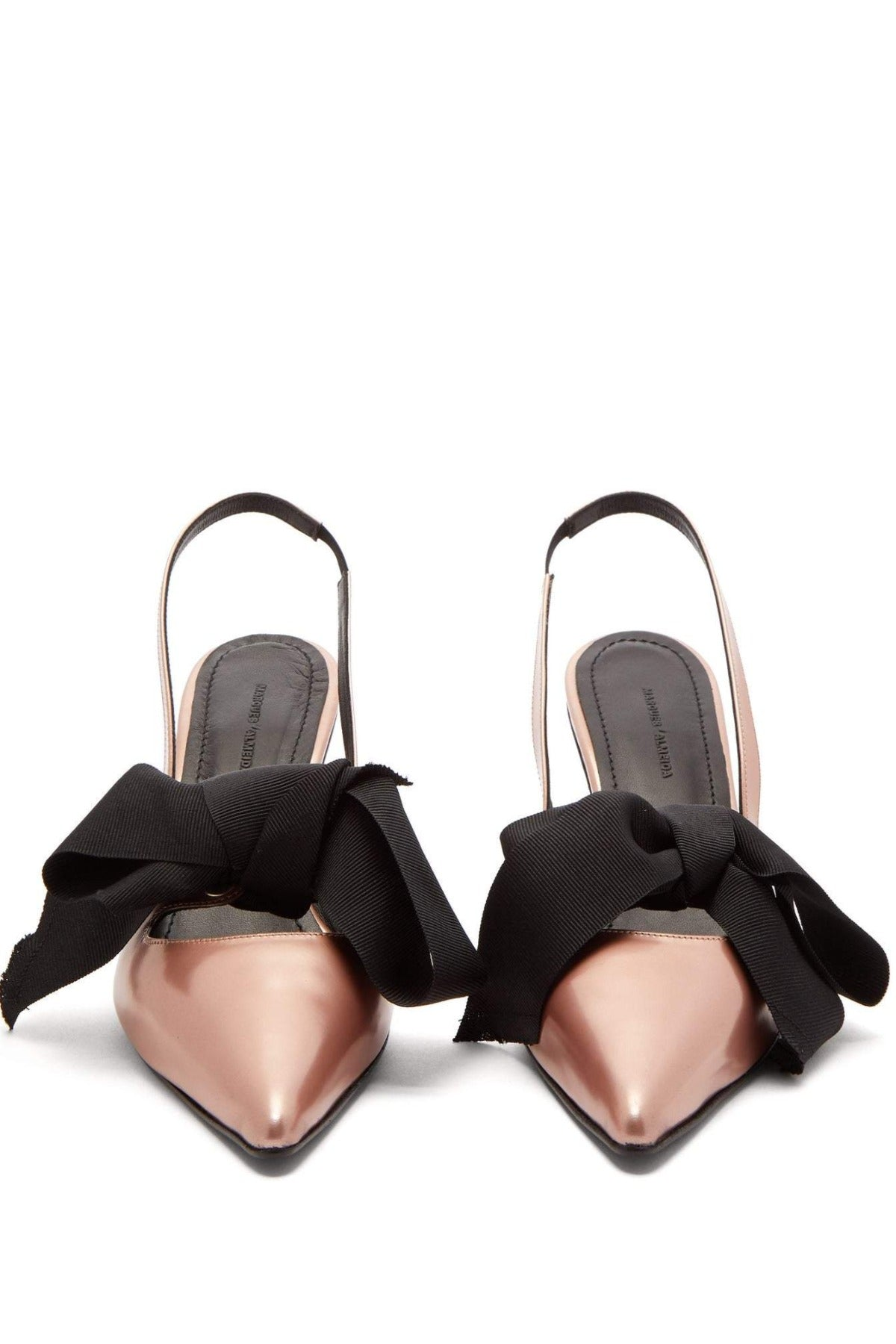 BOW SLINGBACKS W/ HOUR GLASS HEEL