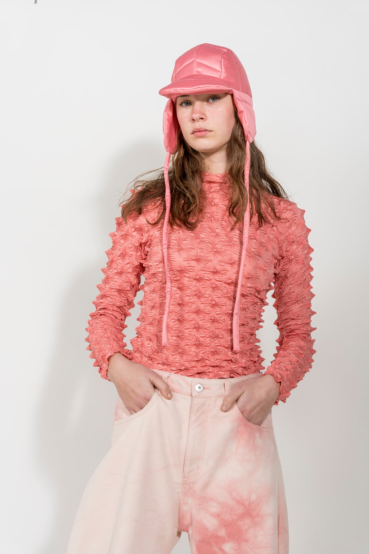 PINK BUCKET PADDED HAT MARQUES ALMEIDA