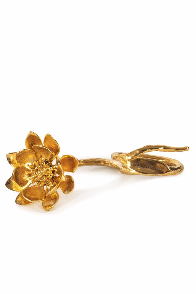 GOLD FLOWER RING - marques-almeida-dev