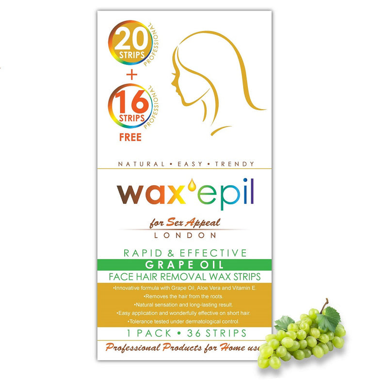 Wax Strips<br>Grape Oil - FACE