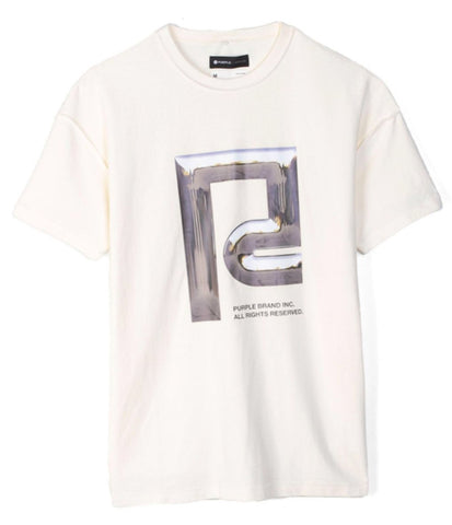 Purple Brand T-Shirt - White-Chrome Icon
