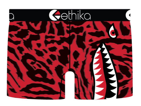 Ethika Women's Shorts - Bomber Slyme - Red/Black