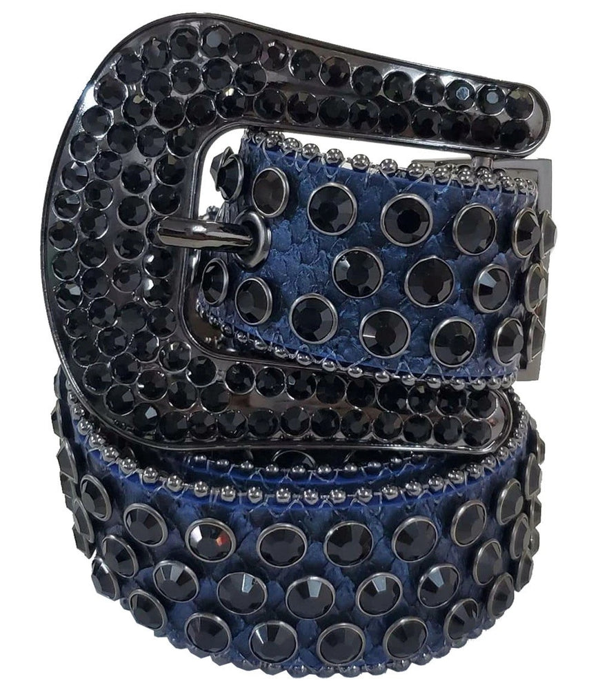Rawyalty Belt - Navy With Black Crystal