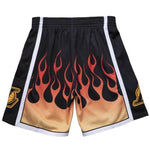 Mitchell and Ness Shorts - NBA Flames - Lakers