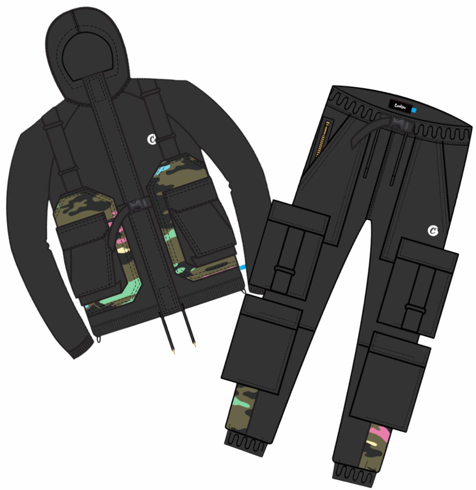Cookies Sweatsuit - Escobar Nylon - Black