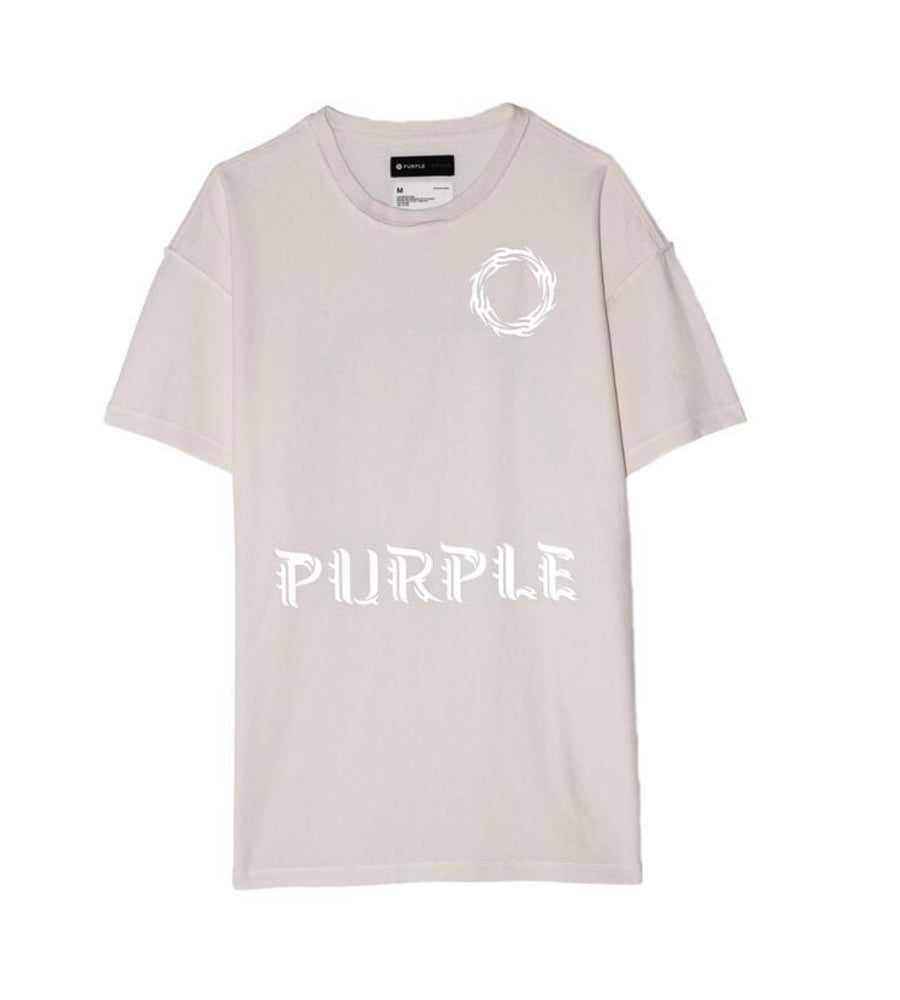 Purple Brand Shirt - Relaxed Tee - Wreath - White
