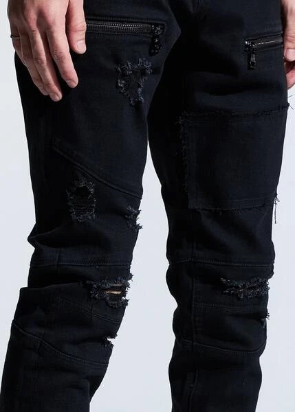 Crysp Denim Jeans - Bank - Black Distressed - CRYSPHOL20-120