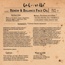 Load image into Gallery viewer, Laloirelle Renew & Balance Face Oil - Laloirelle LLC