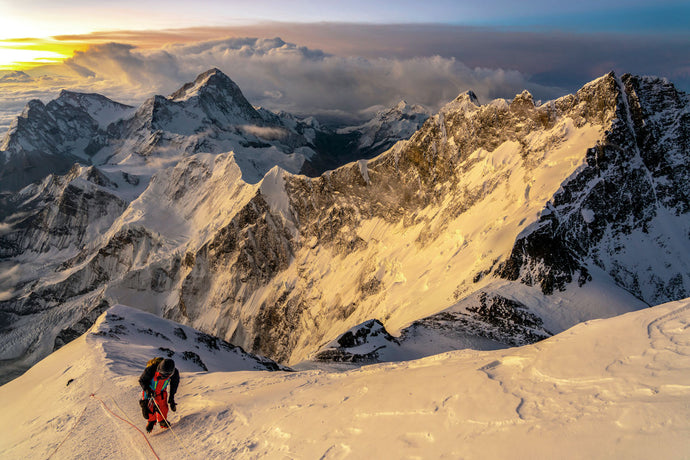 Everest ascent sunrise