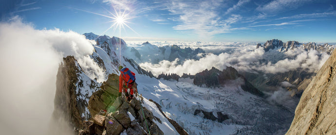 Grandes Jorasses at sunset