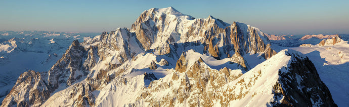 Sunrise on the Mont Blanc Massif