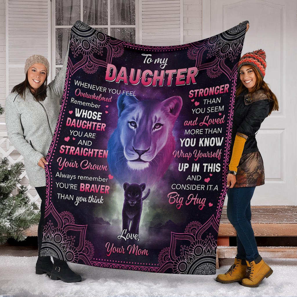 Black Panther Love Mom To My Daughter Fleece Blanket Mother To Daughte Prideearth