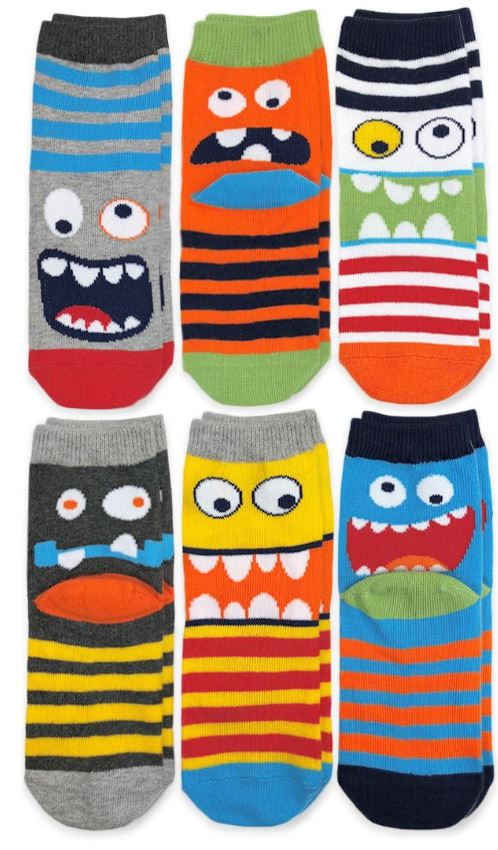 Monster Crew Socks 6 Pair Pack