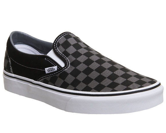 Classic Slip-on Black/Grey Checkerboard