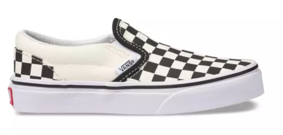 Classic  Slip-On Black/White (Kids)