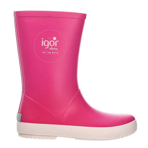 Igor 'Splash Nautica' Pink Rain Boots (Toddler/Kid)