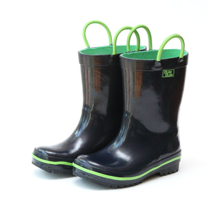 Navy and Green Rain Boot (Toddler/Kids)