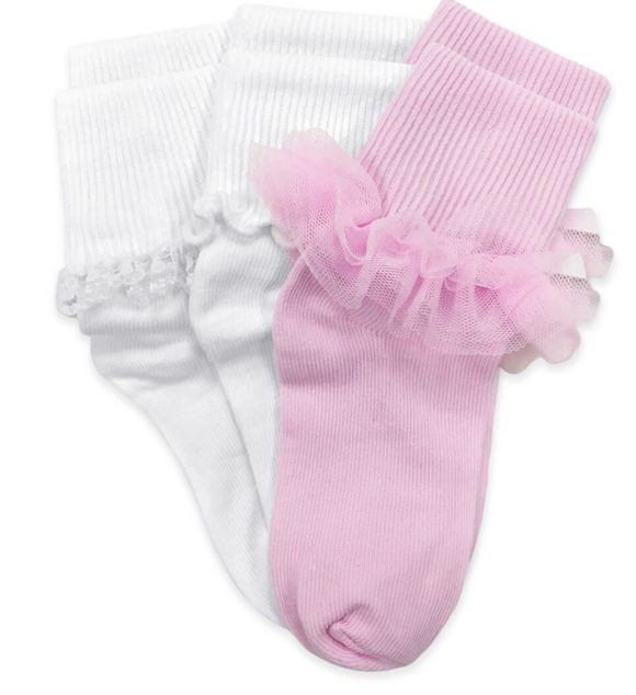 Ruffle/Ripple/Lace Socks 3 Pair Pack