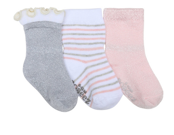 Robeez Stripes and Dots Socks, 3-Pack