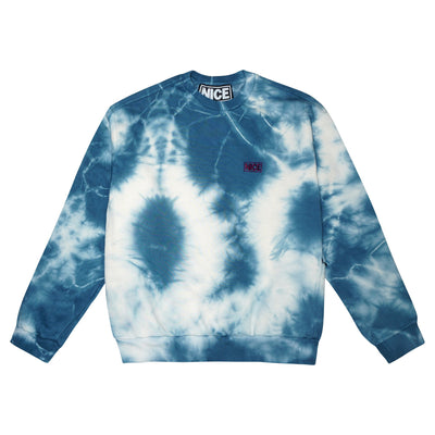 NICE STASH CREWNECK - BLUEBERRY TIE-DYE