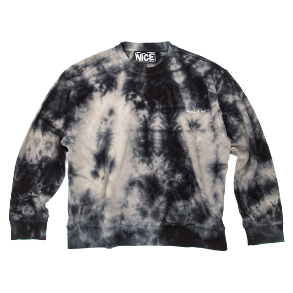 ONLY SMOKE THE BEST STASH CREWNECK - SPACE TIE-DYE - MR NICE