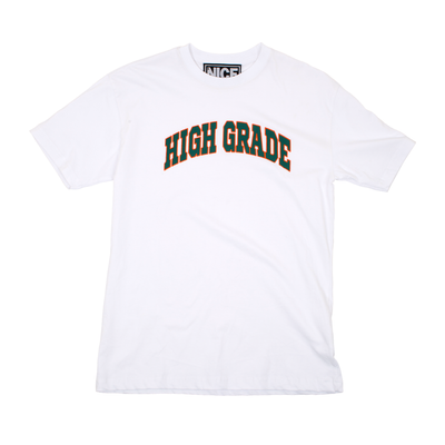 HIGH GRADE T-SHIRT - WHITE - MR NICE
