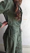 Load image into Gallery viewer, Army Green Cotton Coverall