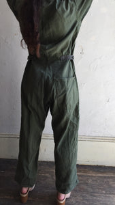 Army Green Cotton Coverall