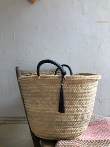 All Natural Woven and Leather Day-Tote