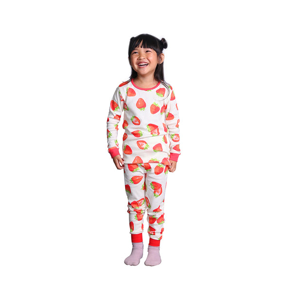 Hanee's Red Strawberry Pajamas