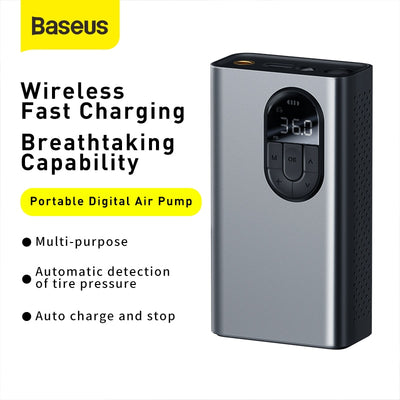 Baseus Portabel Air Pump for Bicycle, Car, Motorcycle, Basketball etc.