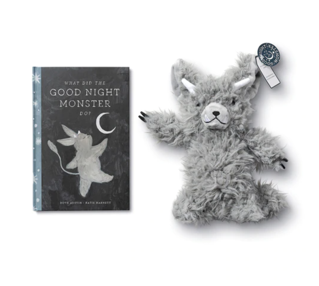 goodnight monster book & plush toy