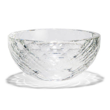 Clear Crystal Faceted Bowl