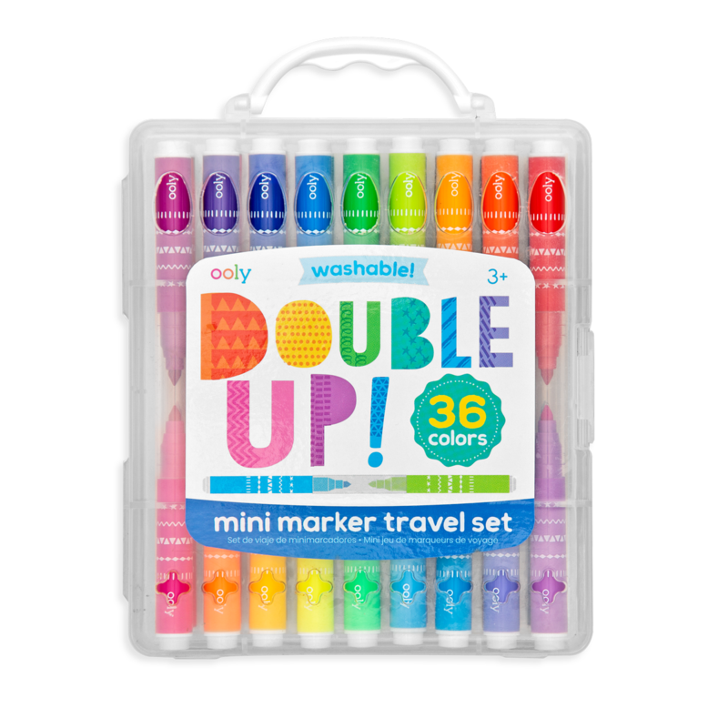 double-up mini marker travel set