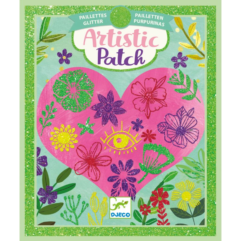 petals glitter artistic patch art kit