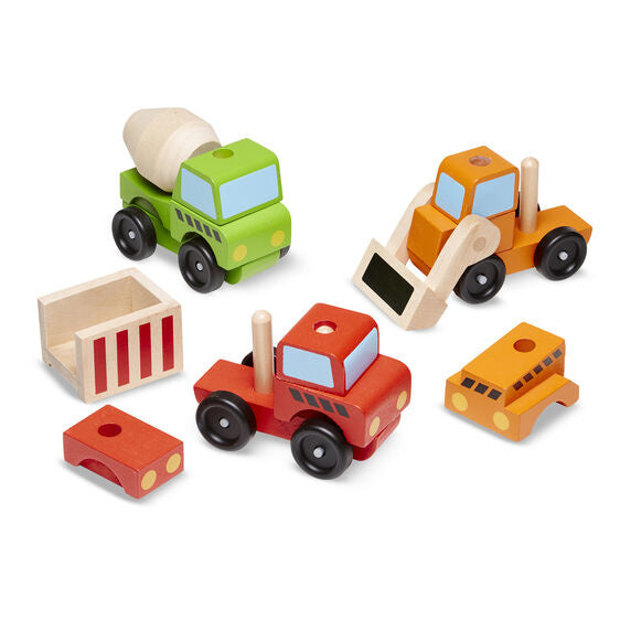 stacking construction vehicles toy