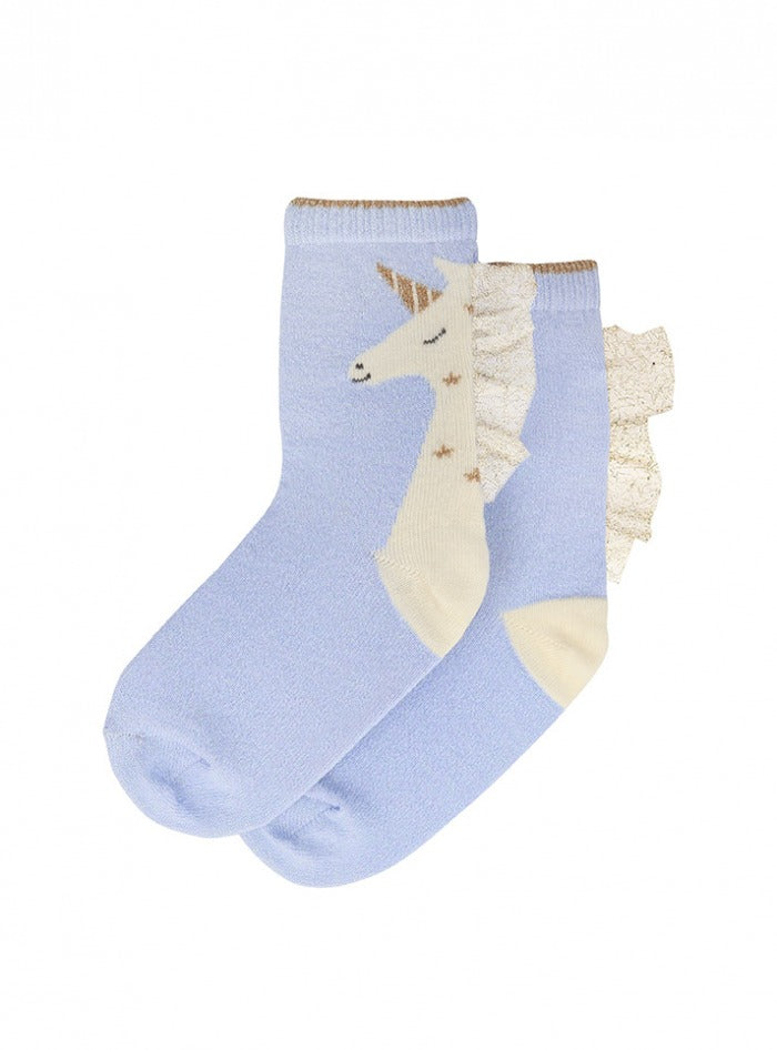 unicorn sparkle socks 3-5yrs