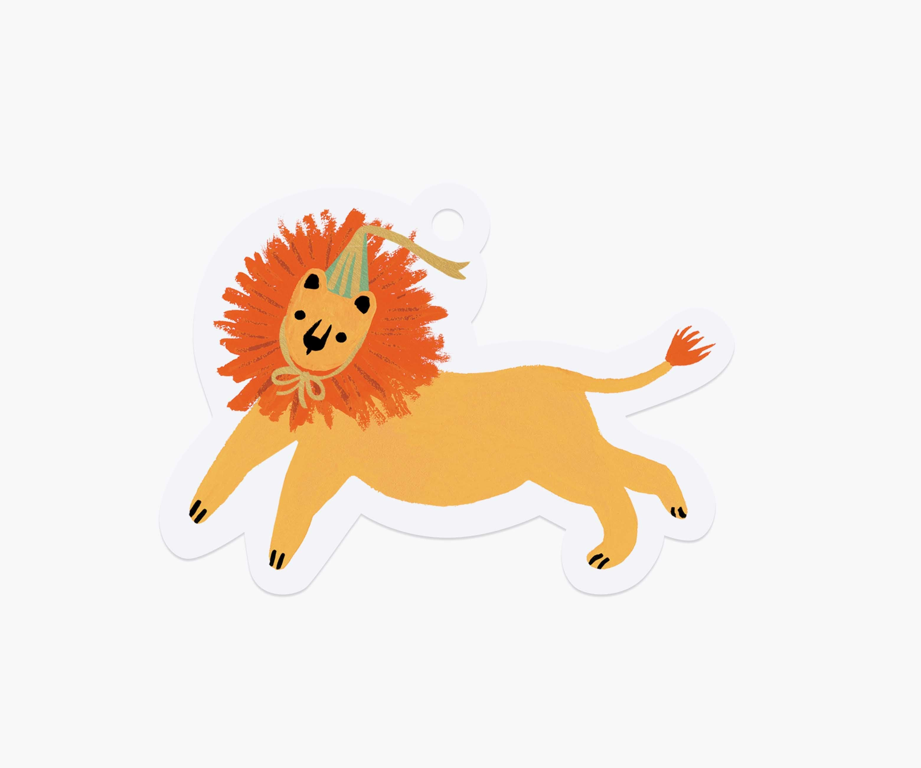 single party lion gift tag