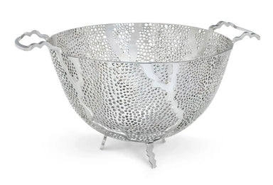 Molten Stainless Steel Fruit Bowl