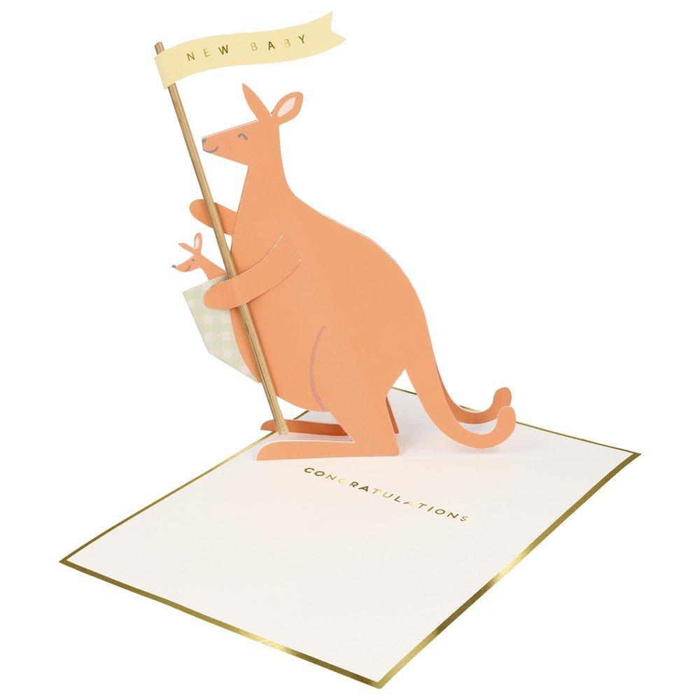 baby kangaroo stand-up card