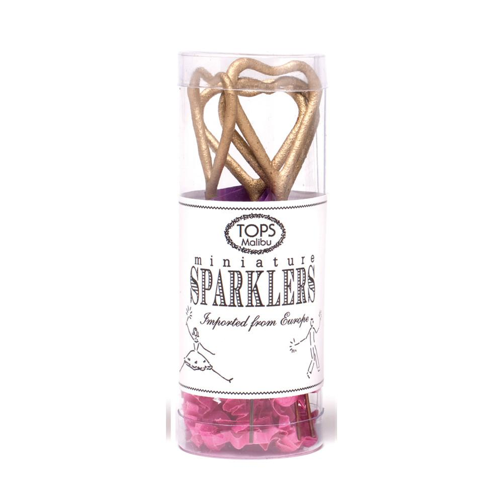 Mini Gold Heart Sparklers