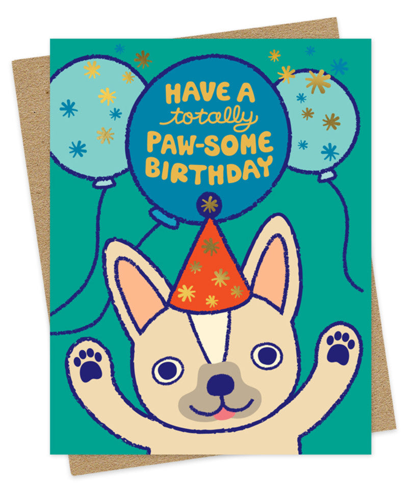 paw-some frenchie birthday card