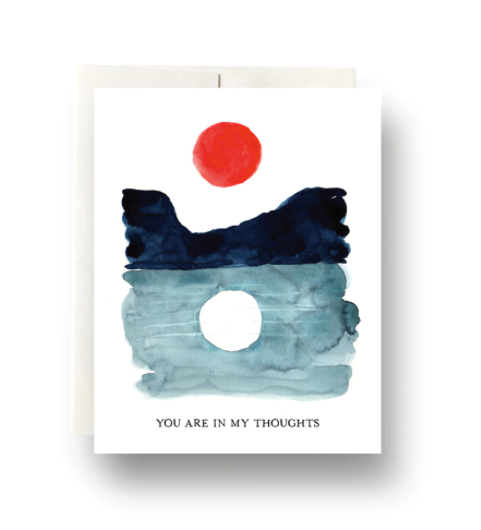 Sun and Moon: You're in my Thoughts Card